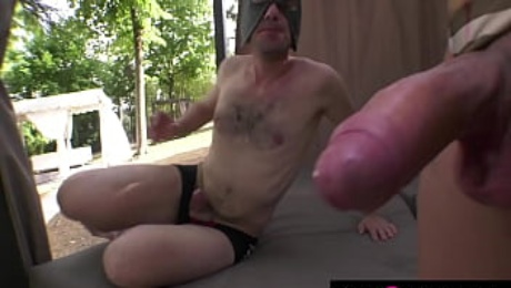Whipping, submission, blowjobs in threesome with Shemale Marie Claire